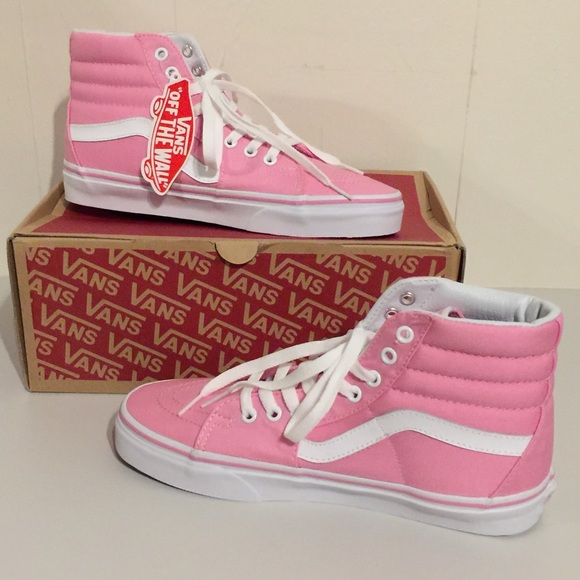 553d0a78ed1052 NWT Vans SK8-Hi Canvas Prism Pink